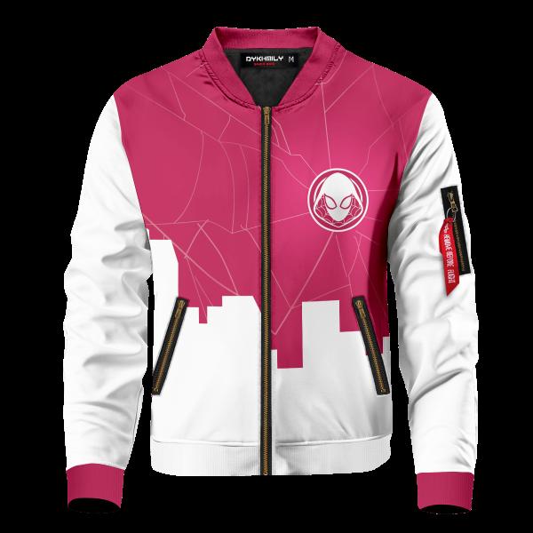 spiderverse gwen bomber jacket 238568 - Anime Jacket