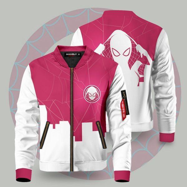 spiderverse gwen bomber jacket 499309 - Anime Jacket