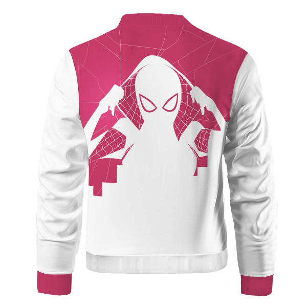 spiderverse gwen bomber jacket 586728 - Anime Jacket