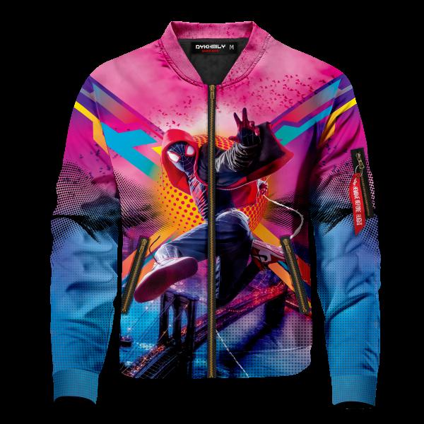 spidey miles signed bomber jacket 260443 - Anime Jacket