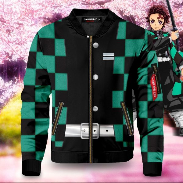tanjiro kamado bomber jacket 307005 - Anime Jacket