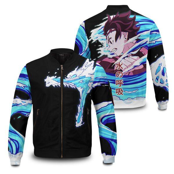 tanjiro water style bomber jacket 375283 - Anime Jacket