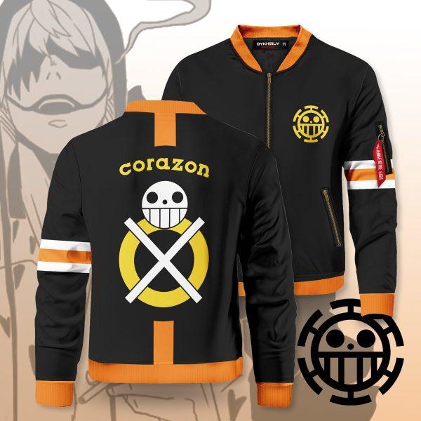 trafalgar corazon bomber jacket 157234 - Anime Jacket