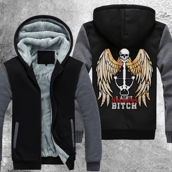 twd nobodys bitch fleece jacket 239587 - Anime Jacket