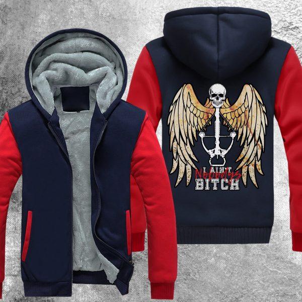 twd nobodys bitch fleece jacket 290116 - Anime Jacket