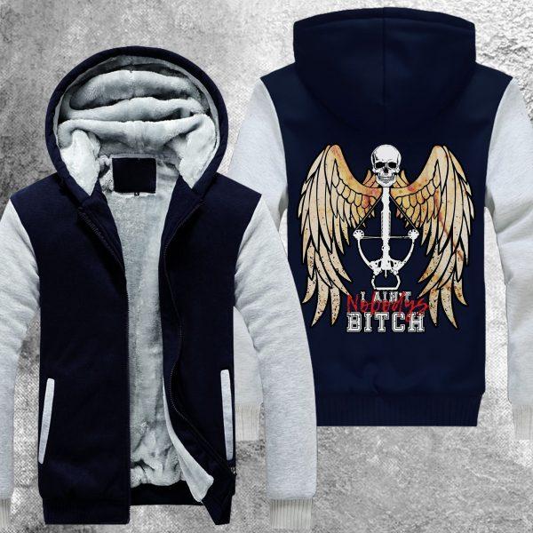 twd nobodys bitch fleece jacket 986231 - Anime Jacket
