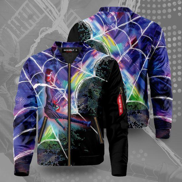 web slinger miles bomber jacket 160009 - Anime Jacket