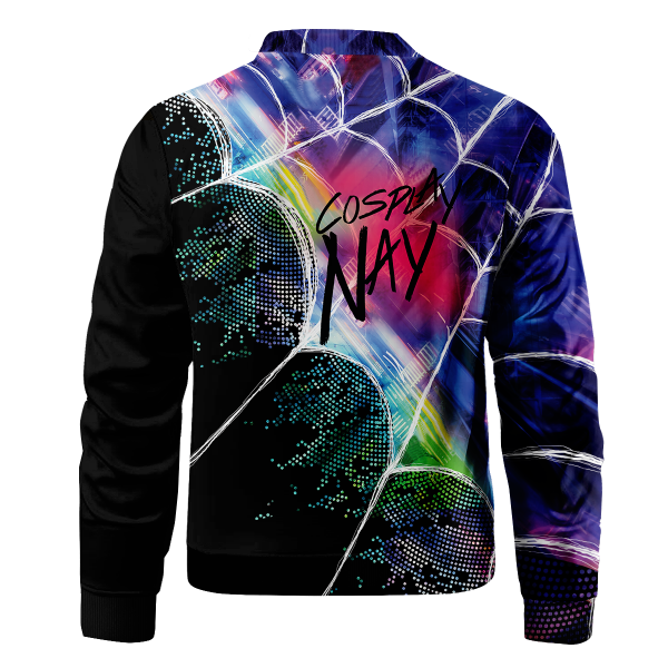 web slinger miles signed bomber jacket 282784 - Anime Jacket