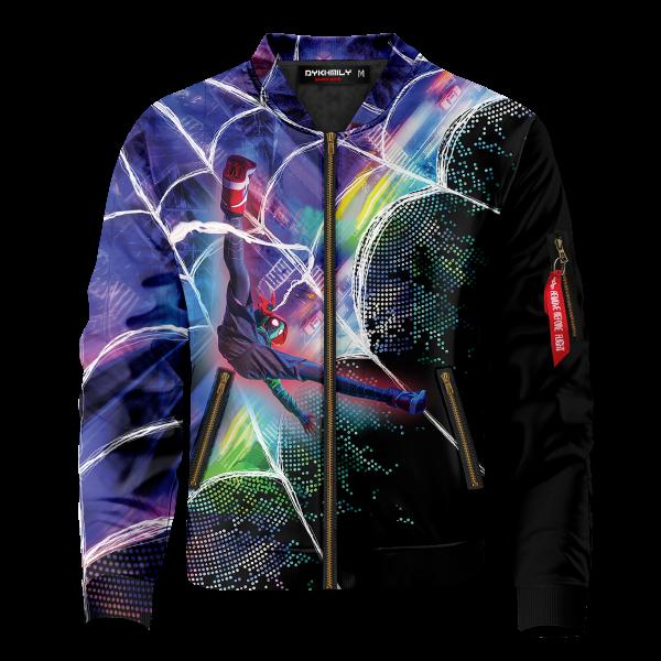 web slinger miles signed bomber jacket 417196 - Anime Jacket