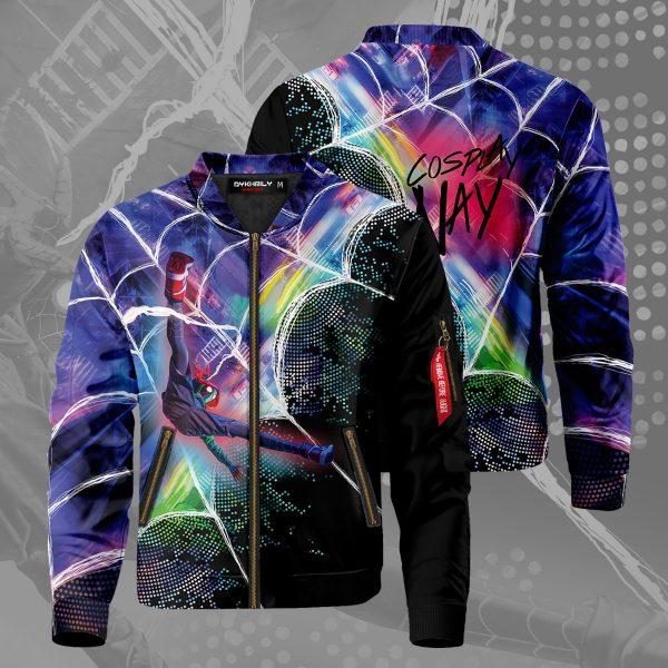 web slinger miles signed bomber jacket 838231 - Anime Jacket