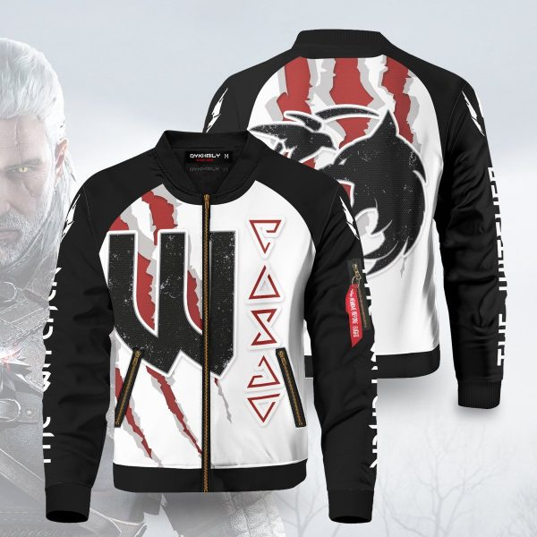 witcher bomber jacket 258392 - Anime Jacket