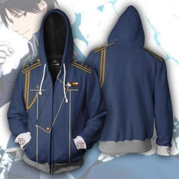 Anime Fullmetal Alchemist Cosplay Costume Edward Elric Alphonse Elric Roy Mustang Unisex 3D Hoodie Sweatshirts Zipper 12.jpg 640x640 12 - Anime Jacket