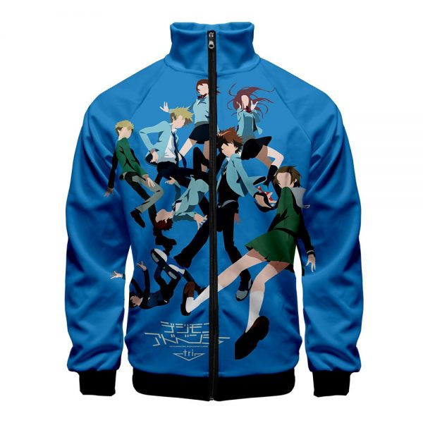 Digimon Fighting Tyrannosaurus Autumn Winter Hoodies Men Sweatshirts Zipper Fitness Hoody Jackets And Coats For Men 4 - Anime Jacket