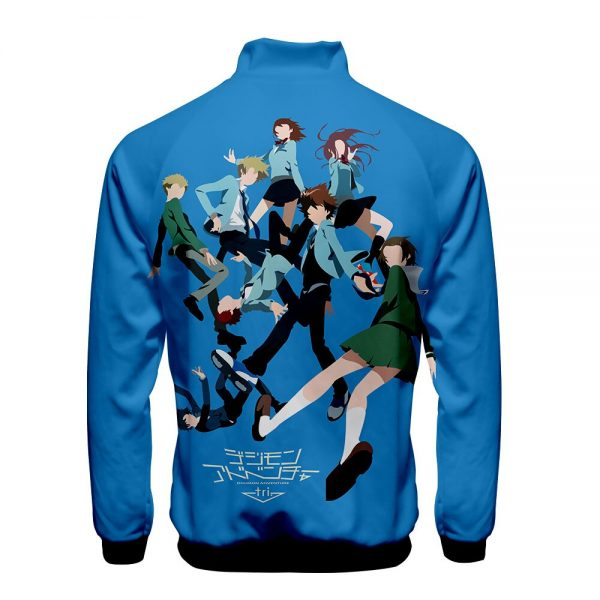Digimon Fighting Tyrannosaurus Autumn Winter Hoodies Men Sweatshirts Zipper Fitness Hoody Jackets And Coats For Men 5 - Anime Jacket