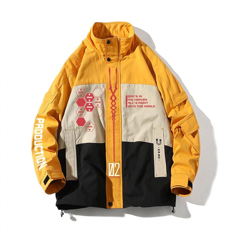 JP Anime Evangelion Shogoki EVA 01 00 02 Autumn Winter Work Coat Men Women Fashion Cosplay 4 - Anime Jacket