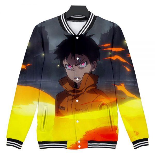 Japan Anime Enen No Shouboutai Fire Force 3D Baseball Jacket Men Bomber Jacket Shinra Kusakabe Baseball 5 - Anime Jacket