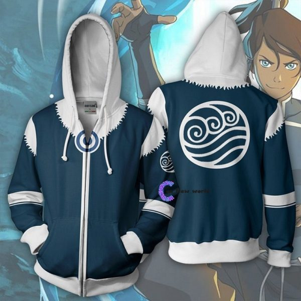2020 New Avatar The Last Airbender Hoodie Cosplay Costume Man Women Anime Casual Zipper Jackets - Anime Jacket