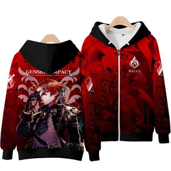 Anime Genshin Impact Keqing Fischl Hooded Sweatshirt Coat Loose Autumn New Men Women Student Harajuku Zipper 1.jpg 640x640 1 - Anime Jacket