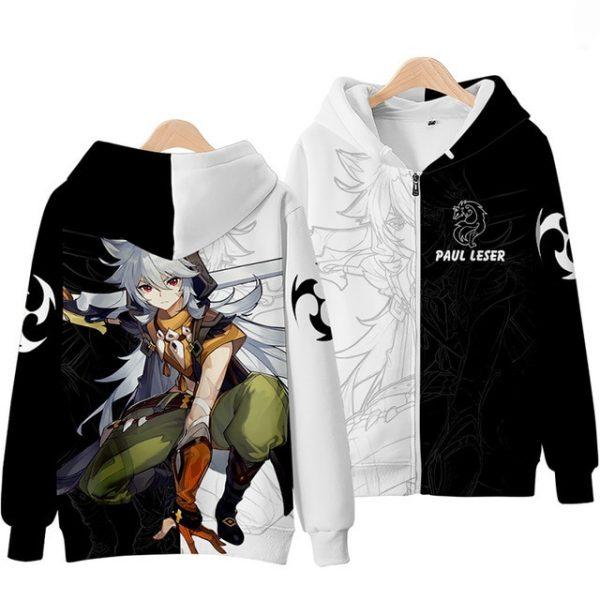Anime Genshin Impact Keqing Fischl Hooded Sweatshirt Coat Loose Autumn New Men Women Student Harajuku Zipper 2.jpg 640x640 2 - Anime Jacket