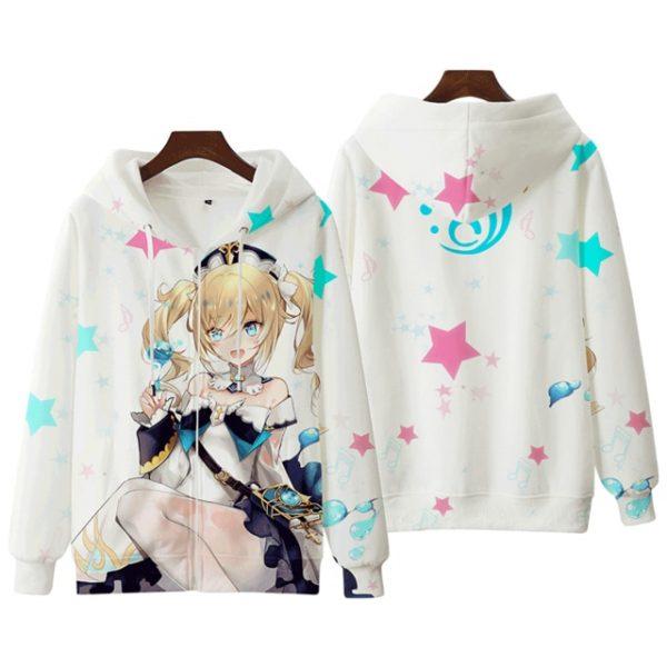 Anime Genshin Impact Keqing Fischl Hooded Sweatshirt Coat Loose Autumn New Men Women Student Harajuku Zipper.png 640x640 1 - Anime Jacket