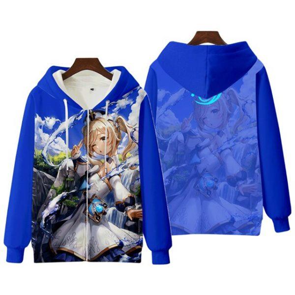 Anime Genshin Impact Keqing Fischl Hooded Sweatshirt Coat Loose Autumn New Men Women Student Harajuku Zipper.png 640x640 7 - Anime Jacket