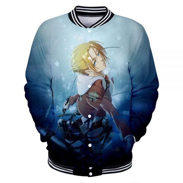Attack on Titan Clothes 3D Baseball Jackets Women Men Long Sleeve Coat Harajuku Casual Streetwear Unisex 5 - Anime Jacket