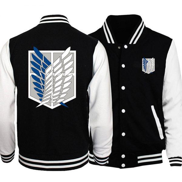 Attack on Titan College style Base Jacket Wings Of Freedom Coat Anime Tracksuit Men Bomber Jacket - Anime Jacket