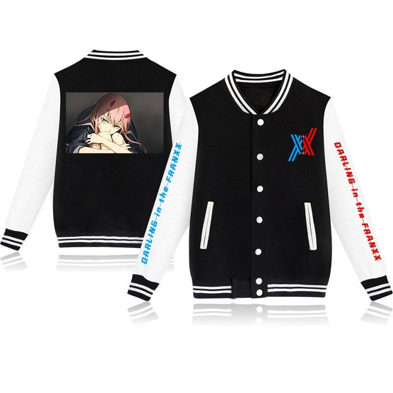 DARLING FRANXX New Baseball Uniform Boys Girls Coat Retro Print Streetwear Casual Jacket Tracksuit Top Japanese 3 - Anime Jacket