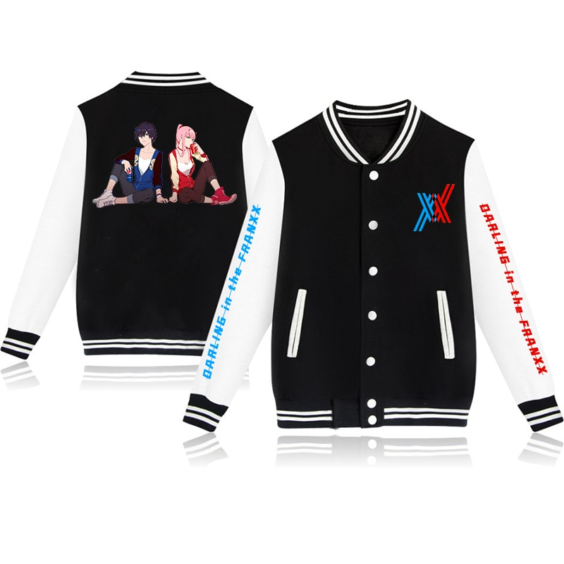 DARLING FRANXX New Baseball Uniform Boys Girls Coat Retro Print Streetwear Casual Jacket Tracksuit Top Japanese - Anime Jacket