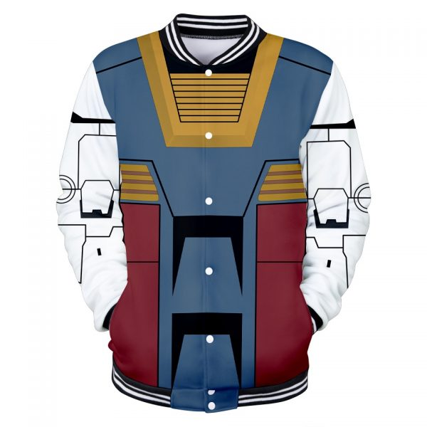 GUNDAM Character Suit 3D Baseball Jackets Women Men Fashion Long Sleeve Jacket Cosplay Casual Streetwear Trendy 1 - Anime Jacket