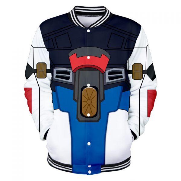 GUNDAM Character Suit 3D Baseball Jackets Women Men Fashion Long Sleeve Jacket Cosplay Casual Streetwear Trendy 3 - Anime Jacket