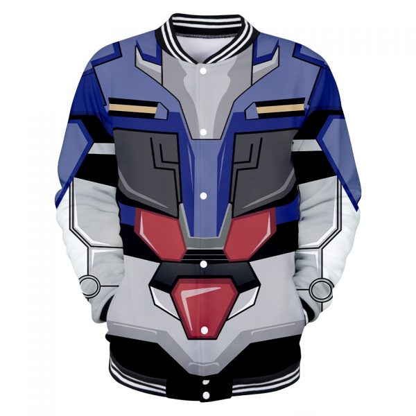 GUNDAM Character Suit 3D Baseball Jackets Women Men Fashion Long Sleeve Jacket Cosplay Casual Streetwear Trendy 5 - Anime Jacket