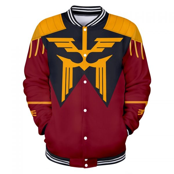 GUNDAM Character Suit 3D Baseball Jackets Women Men Fashion Long Sleeve Jacket Cosplay Casual Streetwear Trendy - Anime Jacket