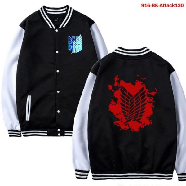 Men Jacket Attack on Titan Anime Baseball Jacket Autumn Winter Winter Casual Uniform Hoodie Harajuku Attack 4.jpg 640x640 4 - Anime Jacket