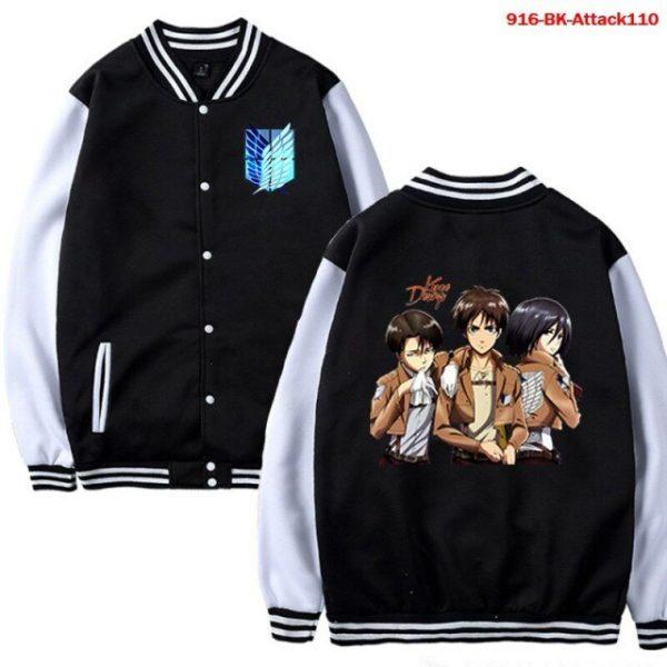 Men Jacket Attack on Titan Anime Baseball Jacket Autumn Winter Winter Casual Uniform Hoodie Harajuku Attack 5.jpg 640x640 5 - Anime Jacket