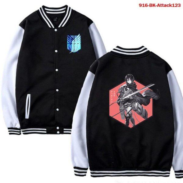 Men Jacket Attack on Titan Anime Baseball Jacket Autumn Winter Winter Casual Uniform Hoodie Harajuku Attack 7.jpg 640x640 7 - Anime Jacket