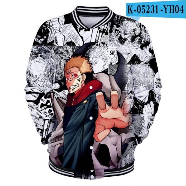 jujutsu kaisen Clothes 3D Baseball Jackets Women Men Long Sleeve Coat Harajuku Casual Streetwear Unisex Oversized 7.jpg 640x640 7 - Anime Jacket